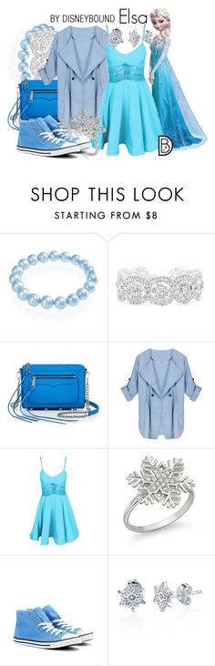 """Elsa"" by leslieakay ❤ liked on Polyvore featuring Bling Jewelry, Slate & Willow, Rebecca Minkoff, Converse, disney, disneybound and disneycharacter"