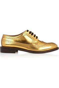 Zapato Oxford dorado de Marni