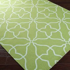 Cora Rug in Lime & Powder Blue