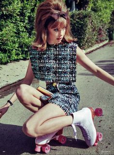 Say Miss Grenada, who is Edie Campbell? - Say Miss Grenada, who is Edie Campbell? Edie Campbell by Sebastian Kim for Vogue Germany, March 201 - Edie Campbell, Mod Girl, Street Style Vintage, Vintage Mode, Style Année 60, Looks Style, 1960s Style, Street Style Photography, Fashion Photography