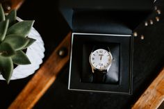 Hugo Boss Commander 2017 watch with white dial and black leather strap. Image by Sally Rawlins Photography. Groom Style, Wedding Groom, Hugo Boss, Sally, Wedding Styles, Black Leather, Watch, Photography, Image