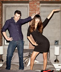 Max Greenfield & Hannah Simone from New Girl. I LOVE new girl! Cece New Girl, New Girl Cast, New Girl Tv Show, Nick Miller, Zooey Deschanel, Look At You, Celebs, Celebrities, Portrait Photo