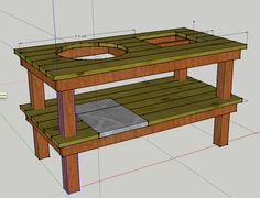 Weber Grill Table Diy ~ build a weber grill table Grill table for the - Grilling Outdoor Oven, Outdoor Cooking, Outdoor Kitchens, Backyard Projects, Wood Projects, Outdoor Projects, Outdoor Ideas, Woodworking Projects, Resin Patio Furniture