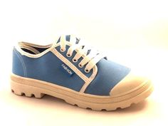New Women's Blue Flat Trainers Lace Up Shoes
