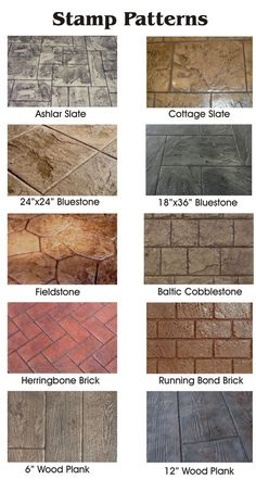 Stamped concrete brings the look of natural stone and other natural materials at. - Stamped concrete brings the look of natural stone and other natural materials at a fraction of the c - Stamped Concrete Colors, Colored Concrete Patio, Stamped Concrete Driveway, Diy Concrete Patio, Concrete Patio Designs, Concrete Driveways, Backyard Patio Designs, Diy Patio, Patio Ideas