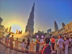 Sunset at the Burj Khalifa in Dubai. Pic by @apy.pongoh. #GoPro #city #dubai #burjkhalifa #travel #wanderlust