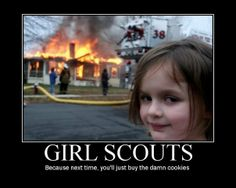 Girl Scouts take cookie selling seriously!