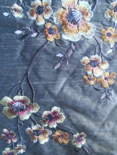 pure silk embroidery soft furnishing fabrics
