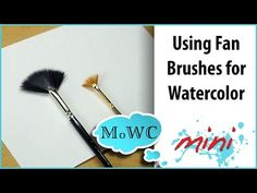 Your fan brush may become your new favorite brush after this tutorial! Close-up images explain 4 different watercolor techniques using a regular fan brush. Watercolor Video, Watercolor Painting Techniques, Watercolor Brushes, Watercolour Tutorials, Painting Lessons, Painting Videos, Watercolour Painting, Art Lessons, Watercolors