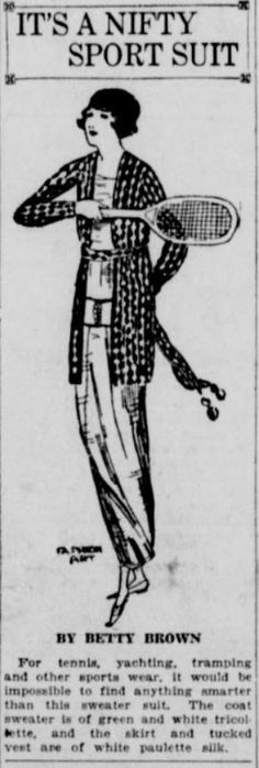 It's a Nifty Sport Suit.  From the July 5, 1919 edition of the Seattle Star