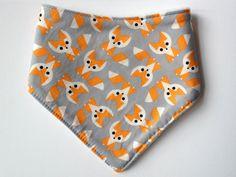 Supercute fox print baby dribble bib  organic by RemiAndOnions
