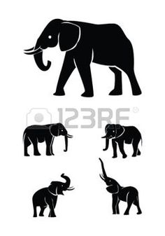 elephants: elephant set collection Illustration