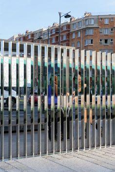Jardin Serge Gainsbourg / Matthieu Gelin  David Lafon Architecte - Polished Stainless Steel Barrier