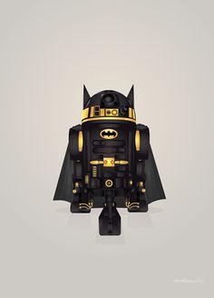Starwars: R2-D2 Droid Superheroes Created by Steve Berrington