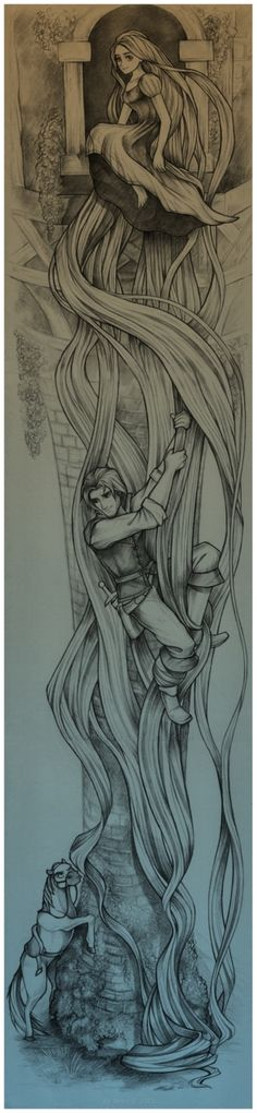 Rapunzel´s Tower - I'd get this tattooed along one of my arms or legs.Probably without the horse though.