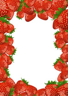 ~Free download - Strawberry PNG Frame. Would make a lovely poster at the strawberries and cream stall.