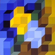 Victor Vassarely - brilliant use of colour and shape