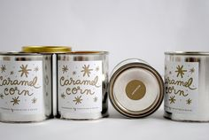 My DIY Holiday Treats: Caramel Corn - can use paint cans from HD