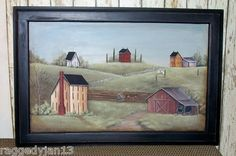 Amish farm painted on Cabinet Door