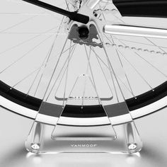 The Vanmoof Ghost Bicycle Stand Does Not Detract from Your Two-Wheeler