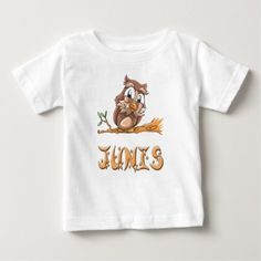 Junis Owl Baby T-Shirt - baby gifts giftidea diy unique cute
