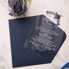 Janice Paper Modern Foil Crest Acrylic Card Acrylic Invitations – Save d. Unique Wedding Stationery, Wedding Invitation Trends, Laser Cut Wedding Invitations, Invitation Design, Invitation Cards, Houston, Acrylic Invitations, Types Of Printing, Bat Mitzvah