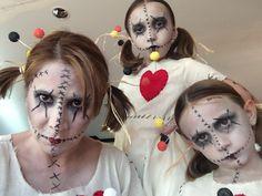 Voodoo doll make-up