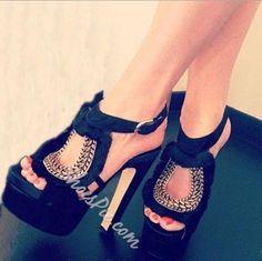 Shoespie - Shoespie Sexy Leopard Grain Suede Thick Platform High Heel Shoes - AdoreWe.com