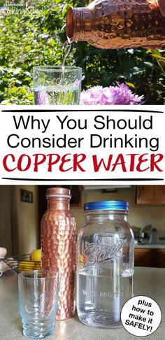 Have you heard of copper water? Have you ever made your own with a beautiful copper pitcher, bottle, glasses, or cups in your kitchen? The benefits of copper water date back to ancient cultures, especially Ayurvedic medicine in India. Read more to find ou Calendula Benefits, Lemon Benefits, Matcha Benefits, Coconut Health Benefits, Copper Benefits Health, Health And Wellness, Health Tips, Health Articles, Ayurvedic Medicine