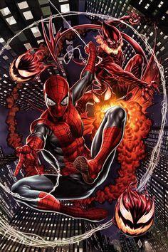 Red Goblin Vs Spider-Man by Mark Brooks - Marvel Comics. Marvel Comics Art, Marvel Comic Universe, Comics Universe, Marvel Heroes, Comic Art, Comic Books Art, Amazing Spiderman, Spiderman Kunst, Green Goblin