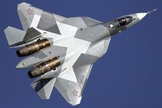 Russia's Sukhoi PAK-FA fifth-generation stealth fighter is slated to enter service with the Aerospace Forces in It has been given designation The plane is a generation… Stealth Aircraft, Fighter Aircraft, Military Aircraft, Stealth Bomber, Military Jets, Fighter Pilot, Sukhoi Su 47, Dassault Falcon 7x, Russian Fighter Jets