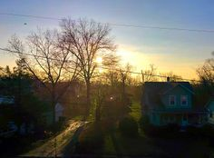 First pic taken in the morning on my apartment balcony in Baltimore, MD USA. Taken 20 March 2014 at 7:54 AM EDT.