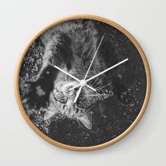 """Good times! Rethink the traditional timepiece as functional wall decor. You'll love how our Artists are converting some of their coolest designs specifically into Wall Clocks. Constructed with premium, shatter-resistant materials, with three frame color options.      - Natural wood, black or white frame options   - Dimensions: 10"""" diameter, 1.75"""" depth   - Choose black or white hands to match frame or design   - High-impact plexiglass crystal face   - Backside hook for easy hanging Wall Clocks, Wall Prints, Natural Wood, Cool Designs, Wall Decor, Hands, Graphics, Artists, Times"""
