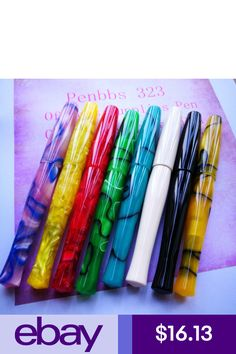 Penbbs 323 16 Colors Optional Fountain Pen Smooth F Nib Screw Cap With A Box Fancy Pens, Vintage Pens, Best Pens, Screw Caps, Writing Pens, Sunset Colors, Pen Nib, Writing Styles, Writing Instruments