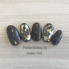 Glittering nails with charcoal Love Nails, How To Do Nails, Pretty Nails, Fun Nails, Sparkle Nails, Asian Nails, Korean Nails, Asian Nail Art, Japanese Nail Art