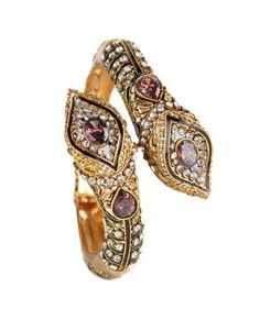 Hearty Gold Tone Stone Bridal Kada Bollywood Bangle Bracelet Wedding Beige Jewelry 2*4x Vivid And Great In Style Jewelry & Watches Bridal & Wedding Party Jewelry