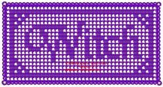 Filet Crochet: Filet Crochet Witch Name Doily Halloween Altar Cloth Pagan Wicca Free Pattern