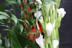 Bouquet de fleurs #composition #glaïeul #orchidée