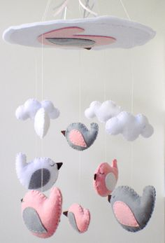 Free shipping Baby Crib Mobile Baby Mobile by LaPetiteMelina