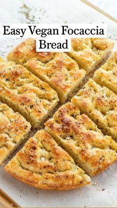 Savoury Baking, Vegan Baking, Vegan Food, Vegan Recipes Easy, Vegetarian Recipes, Cooking Recipes, Vegan Bread, Vegan Appetizers, Vegan Dishes