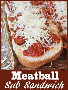 Meatball Sub Sandwich from Jamie Cooks It Up!