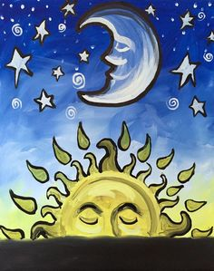 Find this Pin and more on ღ Canvas Art ~ Sun Moon & Stars ღ by mawmz.