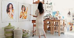 Charmaine Olivia--love her work and her workspace.