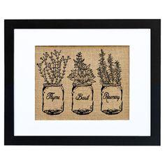 Herbs Framed Burlap Print - The Charming Cottage on Joss & Main