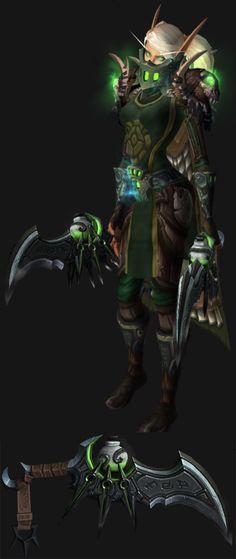 Blood Elf Female Assassination Rogue Artifact Transmog WoW