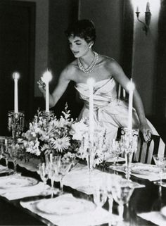 Dinner party......Jackie O style