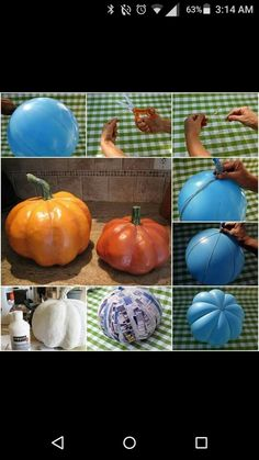 Diy pumpkin. You won't have to worry about this pumpkin going bad  :)