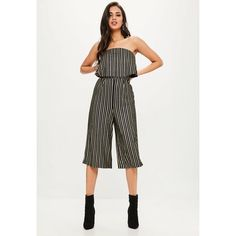 cb3ecef94d7 Missguided Lurex Double Layer Culotte Jumpsuit (75 NZD) ❤ liked on Polyvore  featuring jumpsuits