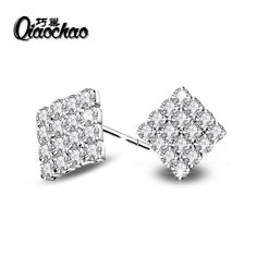 Fashion 925 Sterling Silver Asscher Cut CZ Zirconia Small Stud Earrings for Women Earrings //Price: $US $1.98 & FREE Shipping //     #hashtag3