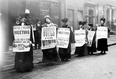 """""""It's 87 years since women won the right to vote in the UK. Use our lesson ideas – including role play and protest songs – to mark the occasion"""" Ideas for primary and secondary students. Women In History, British History, London History, Family History, American History, Les Suffragettes, Protest Songs, Protest Posters, Makeup Trends"""